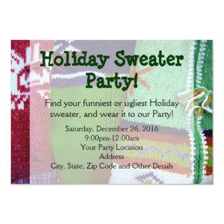 Invitaciones del fiesta del suéter del día de invitaciones personales