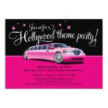 Invitaciones del fiesta del tema de Hollywood Invitación 12,7 X 17,8 Cm