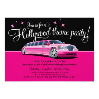 """Invitaciones del fiesta del tema de Hollywood Invitación 5"""" X 7"""""""