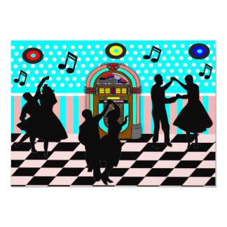 Invitaciones del fiesta del tema de la danza de invitación 12,7 x 17,8 cm