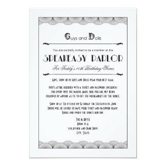 Invitaciones del fiesta del tema del bar de los invitación 12,7 x 17,8 cm