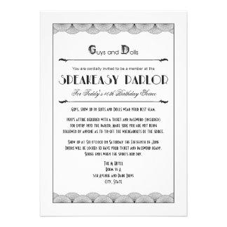 Invitaciones del fiesta del tema del bar de los añ comunicados personalizados