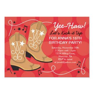 Invitaciones del fiesta del tema del cumpleaños de invitación 12,7 x 17,8 cm
