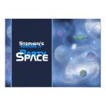 Invitaciones del fiesta del tema del espacio - invitación 12,7 x 17,8 cm