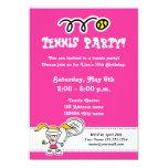 Invitaciones del fiesta del tenis para el invitación 12,7 x 17,8 cm