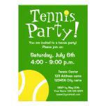Invitaciones del fiesta del tenis para los cumplea