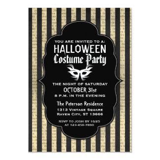 """Invitaciones del fiesta del traje de Halloween del Invitación 5"""" X 7"""""""