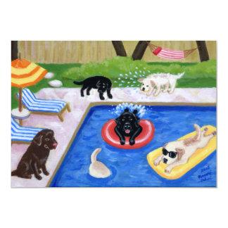 Invitaciones del fiesta del verano de Labradors de Invitación 12,7 X 17,8 Cm