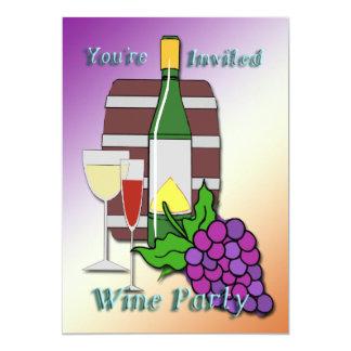 Invitaciones del fiesta del vino invitacion personalizada