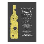 Invitaciones del fiesta del vino y del queso