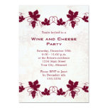 Invitaciones del fiesta del vino y del queso anuncios personalizados