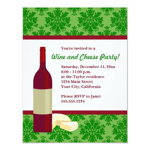 Invitaciones del fiesta del vino y del queso del comunicados