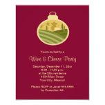 Invitaciones del fiesta del vino y del queso del invitación