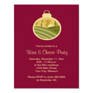 Invitaciones del fiesta del vino y del queso del invitación 10,8 x 13,9 cm