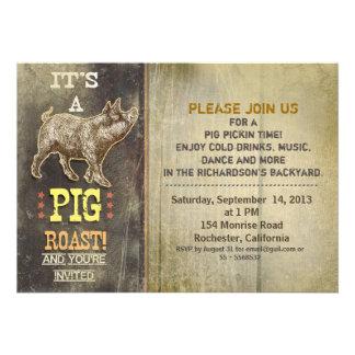 invitaciones del fiesta del vintage de la carne as invitacion personalizada