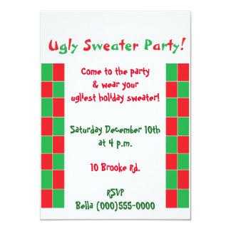 """Invitaciones """"del fiesta feo del suéter"""" invitación 4.5"""" x 6.25"""""""