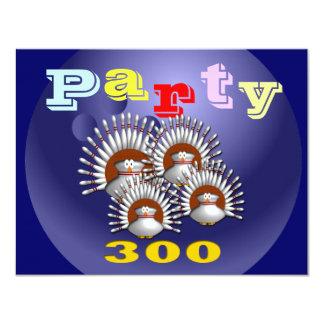 """Invitaciones del fiesta que ruedan adaptables invitación 4.25"""" x 5.5"""""""