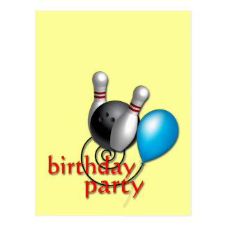 Invitaciones del fiesta que ruedan adaptables tarjeta postal