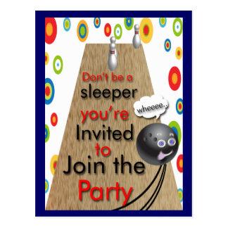 Invitaciones del fiesta que ruedan adaptables postal