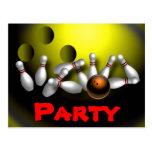 Invitaciones del fiesta que ruedan adaptables postales