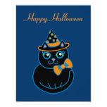 Invitaciones del gato de Halloween Invitación 10,8 X 13,9 Cm