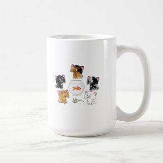 Invitaciones del gato taza de café