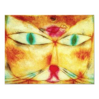 """Invitaciones del gato y del pájaro de Paul Klee Invitación 4.25"""" X 5.5"""""""