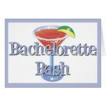 Invitaciones del golpe de Bachelorette Tarjetón