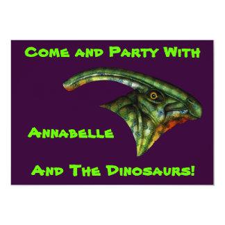 """Invitaciones del Hadrosaur Invitación 5"""" X 7"""""""