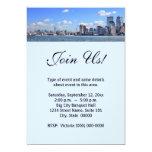Invitaciones del horizonte de New York City Invitación 12,7 X 17,8 Cm