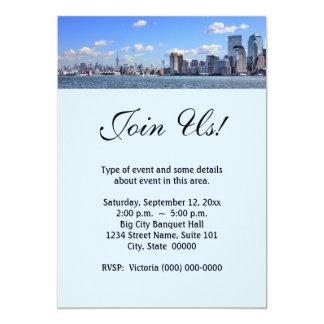 """Invitaciones del horizonte de New York City Invitación 5"""" X 7"""""""