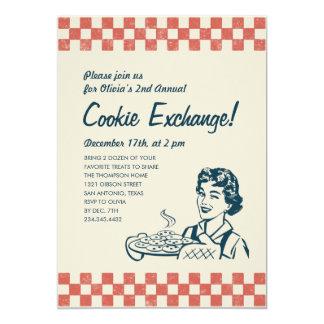 Invitaciones del intercambio de la galleta invitación 12,7 x 17,8 cm