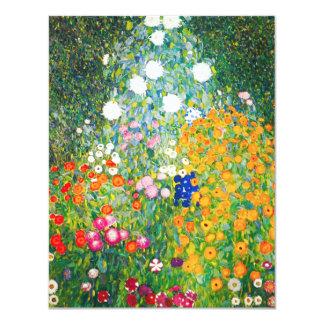 Invitaciones del jardín de flores de Gustavo Klimt Anuncios