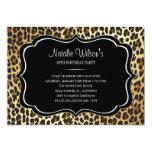 Invitaciones del leopardo del estampado de invitación