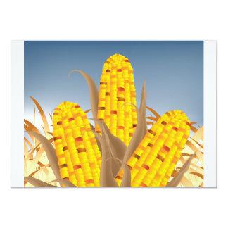 """Invitaciones del maíz invitación 5"""" x 7"""""""