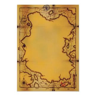 """Invitaciones del mapa del tesoro del pirata invitación 5"""" x 7"""""""