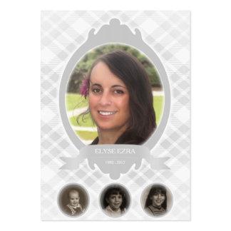 invitaciones del monumento de la foto de la tarjetas de visita grandes