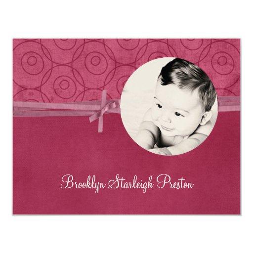 Invitaciones del nacimiento de Brooklyn Starleigh Invitación 10,8 X 13,9 Cm