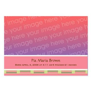 Invitaciones del nacimiento de la foto del bebé tarjetas de visita