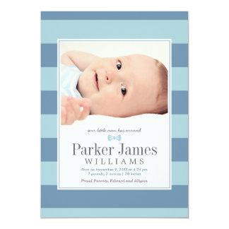 Invitaciones del nacimiento de la foto el | comunicado personal