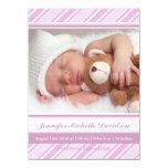 Invitaciones del nacimiento de la niña de las invitación 13,9 x 19,0 cm