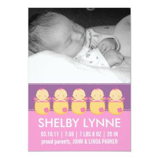 Invitaciones del nacimiento de la tarjeta de la anuncios personalizados