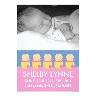 Invitaciones del nacimiento de la tarjeta de la comunicados personales