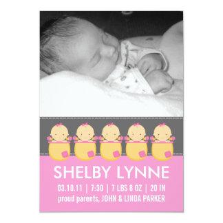Invitaciones del nacimiento de la tarjeta de la invitaciones personales