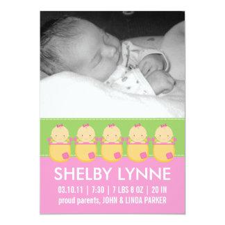 Invitaciones del nacimiento de la tarjeta de la invitacion personal
