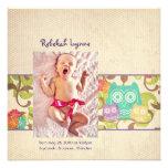 Invitaciones del nacimiento de la turquesa del beb comunicado