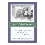 Invitaciones del nacimiento del bebé del verde invitación 12,7 x 17,8 cm