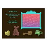 Invitaciones del nacimiento del marco de la foto tarjetas de visita