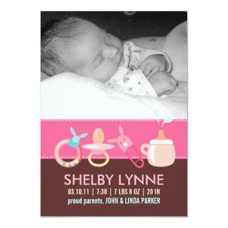 Invitaciones del nacimiento para una niña invitacion personal