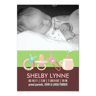 Invitaciones del nacimiento para una niña invitacion personalizada